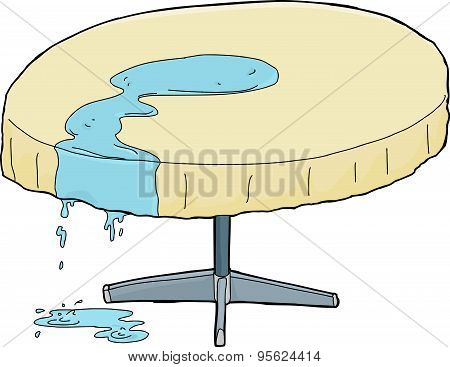 Water Dripping From Table
