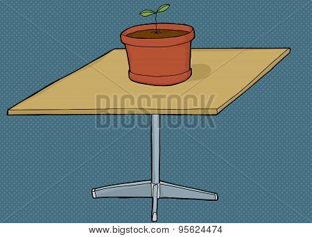 Houseplant On Square Table
