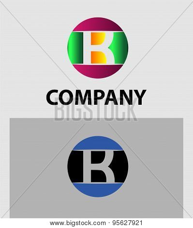 Set of letter K logo icons design template elements