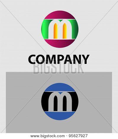 Set of letter M logo icons design template elements