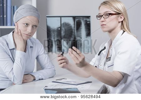 Patient And Lungs Cancer