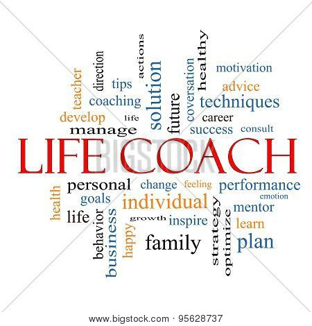 Life Coach Word Cloud Concept