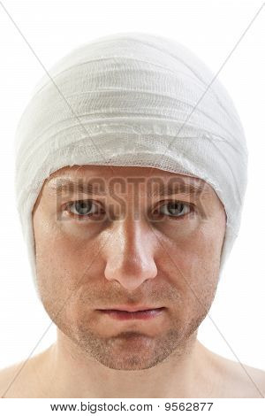 Bandage On Wound Head