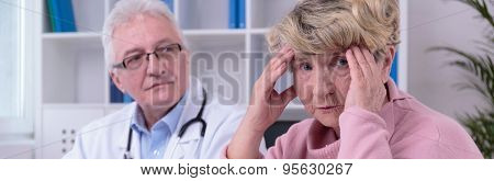 Worried Woman With Headache