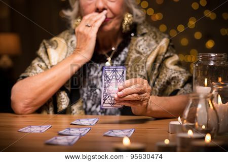 Fortune Teller Reading Tarot Card