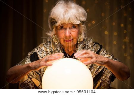Mystique Woman With Magic Ball
