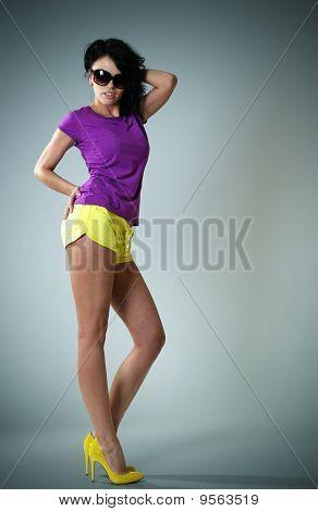 Slim Fashion Model Body