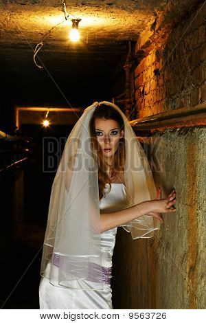 Frightened Bride In Dungeon