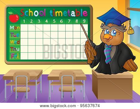 School timetable classroom theme 2 - eps10 vector illustration.