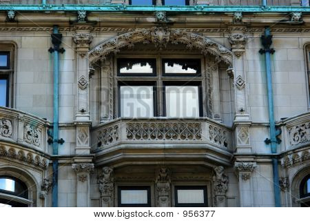 Detail Of Elaborate Mansion Windows