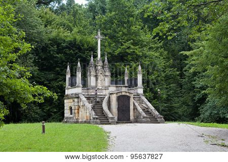 Mausoleum and resting place of Croatian historic figure Ban Jelacic in Zapresic, Croatia.