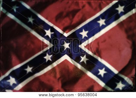 Instagram filtered image of Confederate Rebel flag