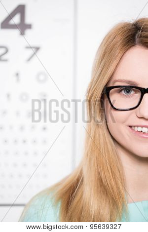 Wearing Glasses With Black Rims