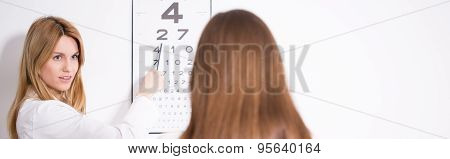 Ophthalmologist Diagnosing Eye's Defect
