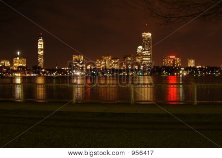 Boston At Night Lights