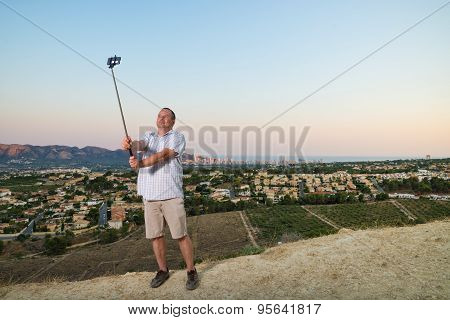 Guy With Selfie Stick