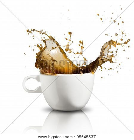 Coffee Splash From Cup