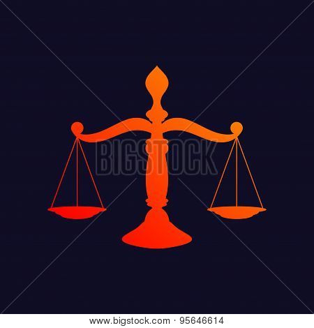 Scales of justice background