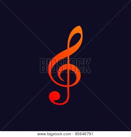 Treble clef background