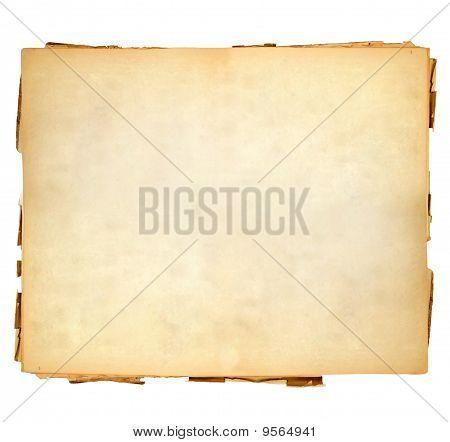Vintage hoja de papel