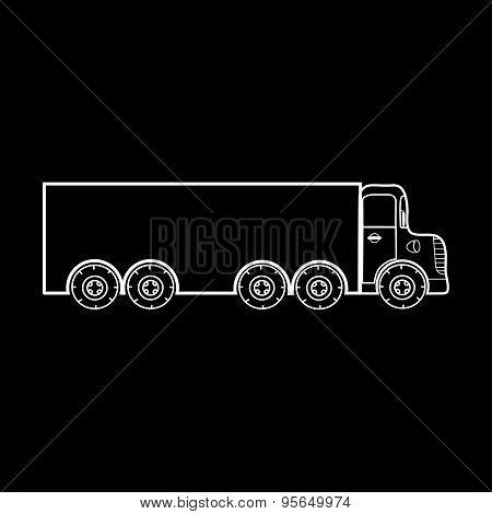 Big Truck Transportation Of Heavy Loads