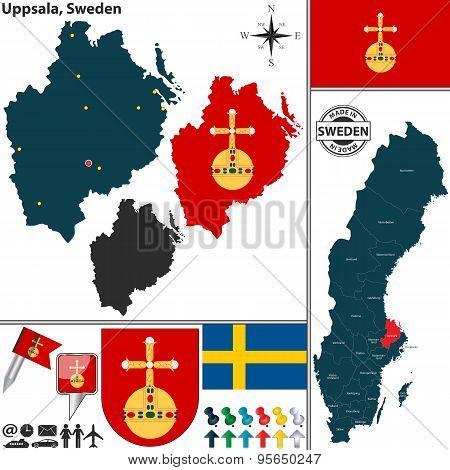 Map Of Uppsala, Sweden