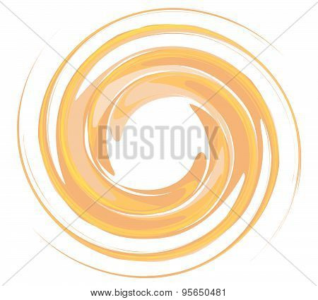 Isolated Vortex On Background Whirlpool Vector,background In Round Shape