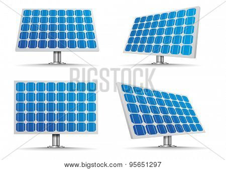 set of detailed illustration of a solar cell panels, eps10 vector