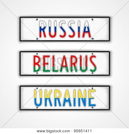 The Slavs Car Signs