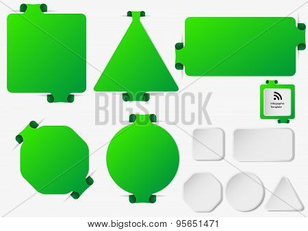 Set Of Illustration Infographic Templates With Green Color