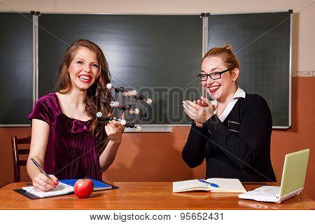 Teacher Praises The Student In Chemistry Class.