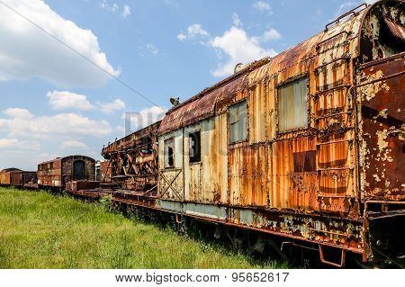 Rusted Out Train Cars