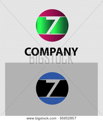 Number logo design.Number five logo.Logo 7 vector template.