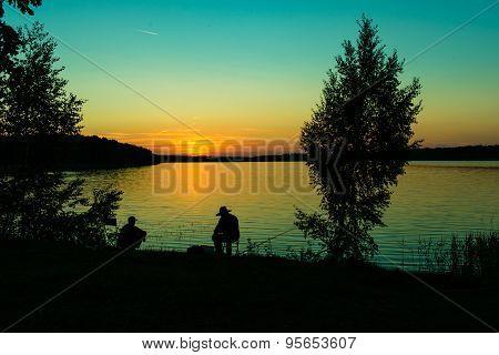 Fishing sunset.
