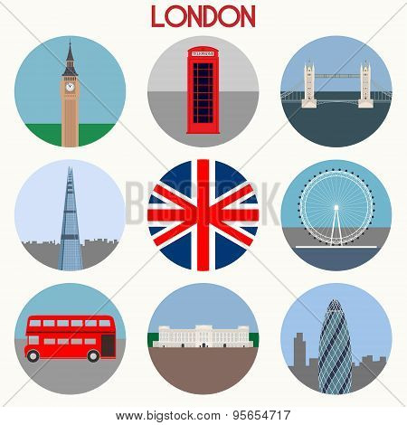 London Icons Set - Vector EPS10