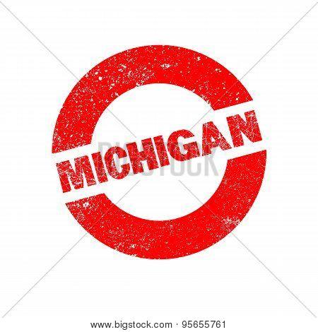 Rubber Ink Stamp Michigan