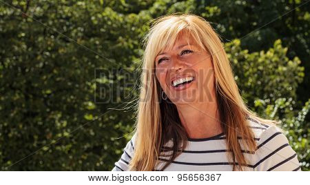 Joyful Mature Woman