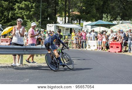 The Cyclist Alejandro Valverde- Tour De France 2014