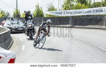 The Cyclist Jean-christophe Peraud - Tour De France 2014
