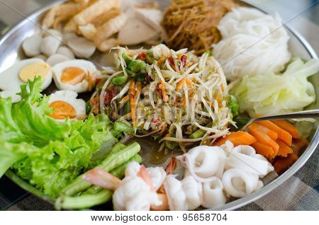 Papaya Salad (som Tum On Large Plate)