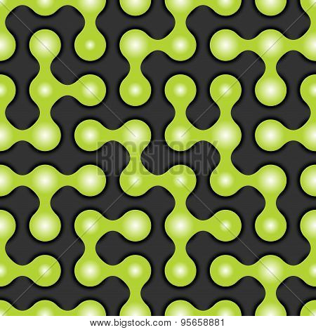 Rounded maze seamless pattern