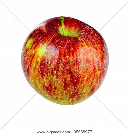 Red Fuji Apple On White Background