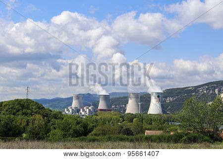 French, Nuclear Power Plant In The Mountains