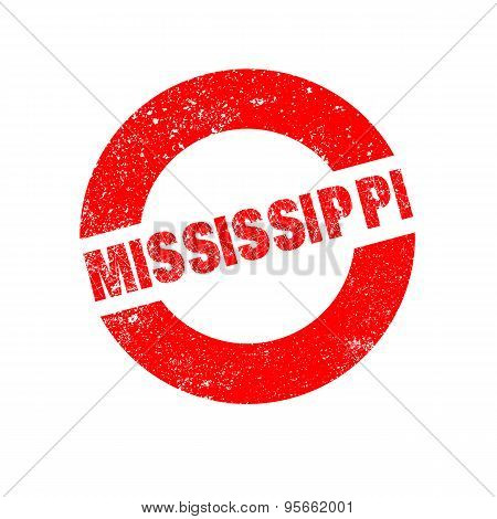 Rubber Ink Stamp Mississippi