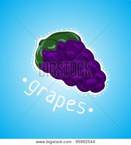 Ripe Bunch Of Grapes