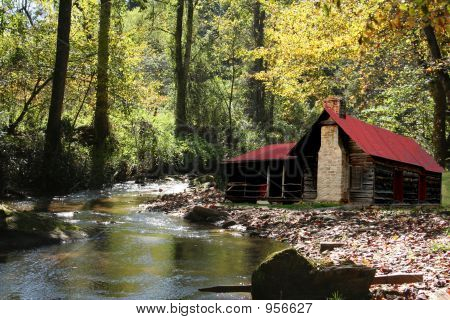 Old Cabin On River
