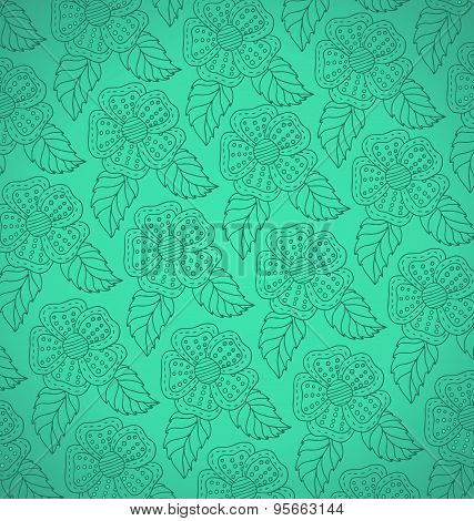Pattern from white decorative flowers