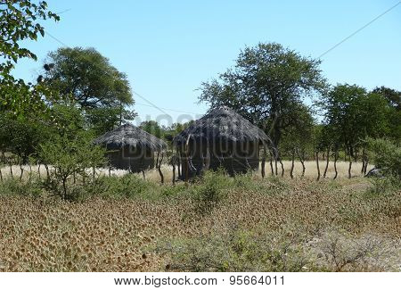 Indigenous Village At Makgadikgadi