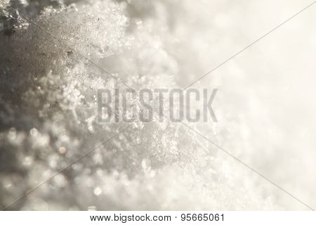 Snow Texture As Christmas Background