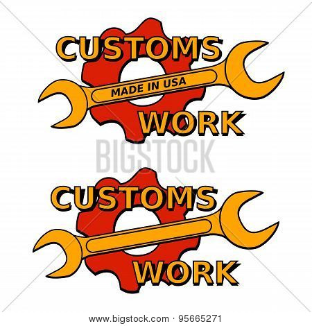 Vector Illustration Logo Custom Mechanical